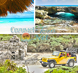 cozumel jeep tour and snorkel tour takes you snorkeling at punta sur park and discover the other side of cozumel mexico