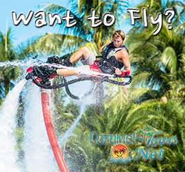 fly boarding in cozumel to fly and swim like a dolphin with this flyboard
